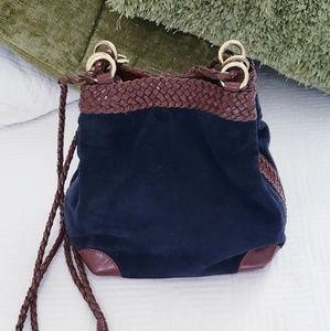 L.J.S Collection- Vintage suede purse